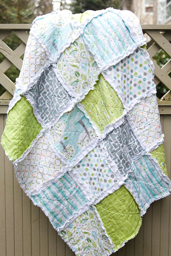 Rag Quilt Color Ideas : Rag Quilt by WestCoastQuilts Backyard Baby Fabric Collection Pinterest Quilt, My mom and ...