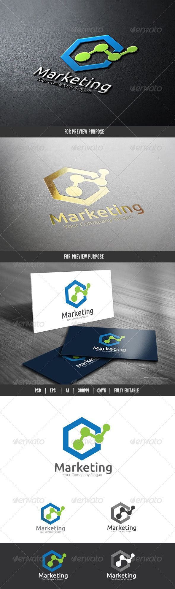 Marketing by babeer Logo Description:The logo is Easy to edit to your own company name.The logo is designed in vector for highly resizable and printi
