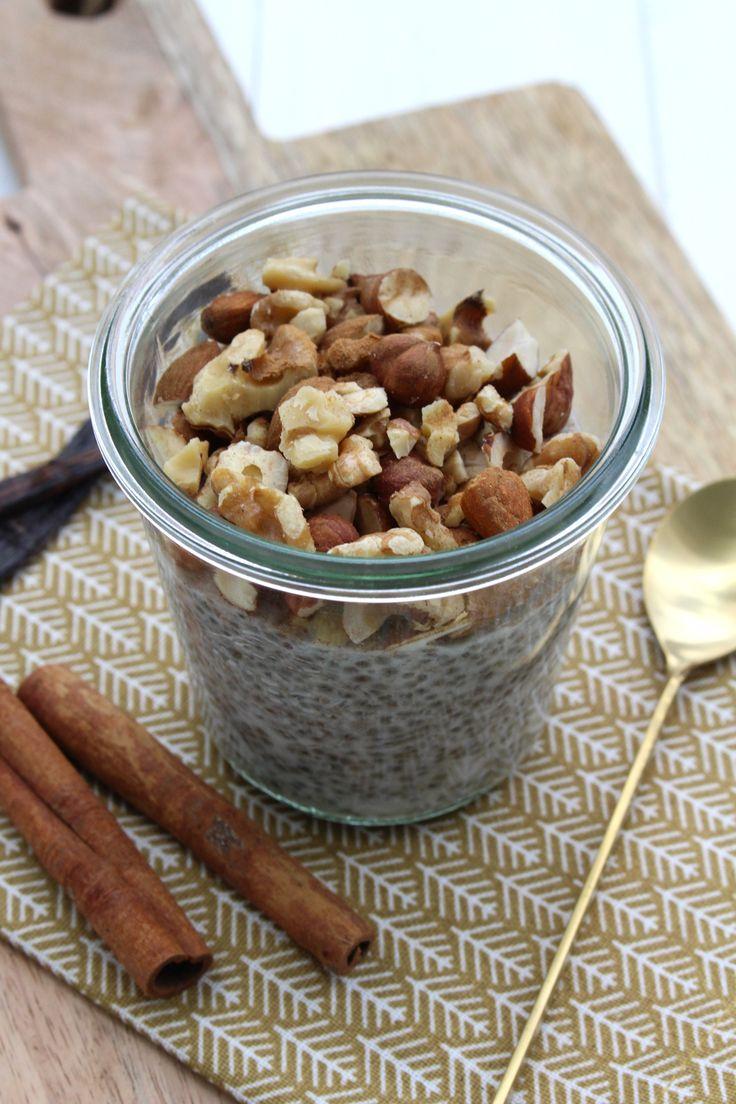 Rezept: Chia-Vanille-Pudding mit Zimt und Kokosmilch | Projekt: Zuckerfrei {Phase 1}