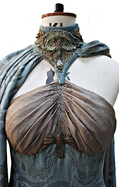 detail of Lysa Arryn's wedding gown, from Game of Thrones.