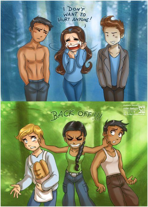 Bella vs. Katniss......bwahahahahaha