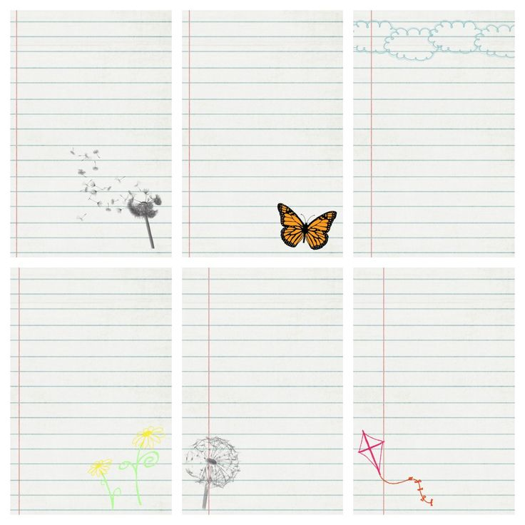 notebook style journal cards -- free printable (for project life or...)