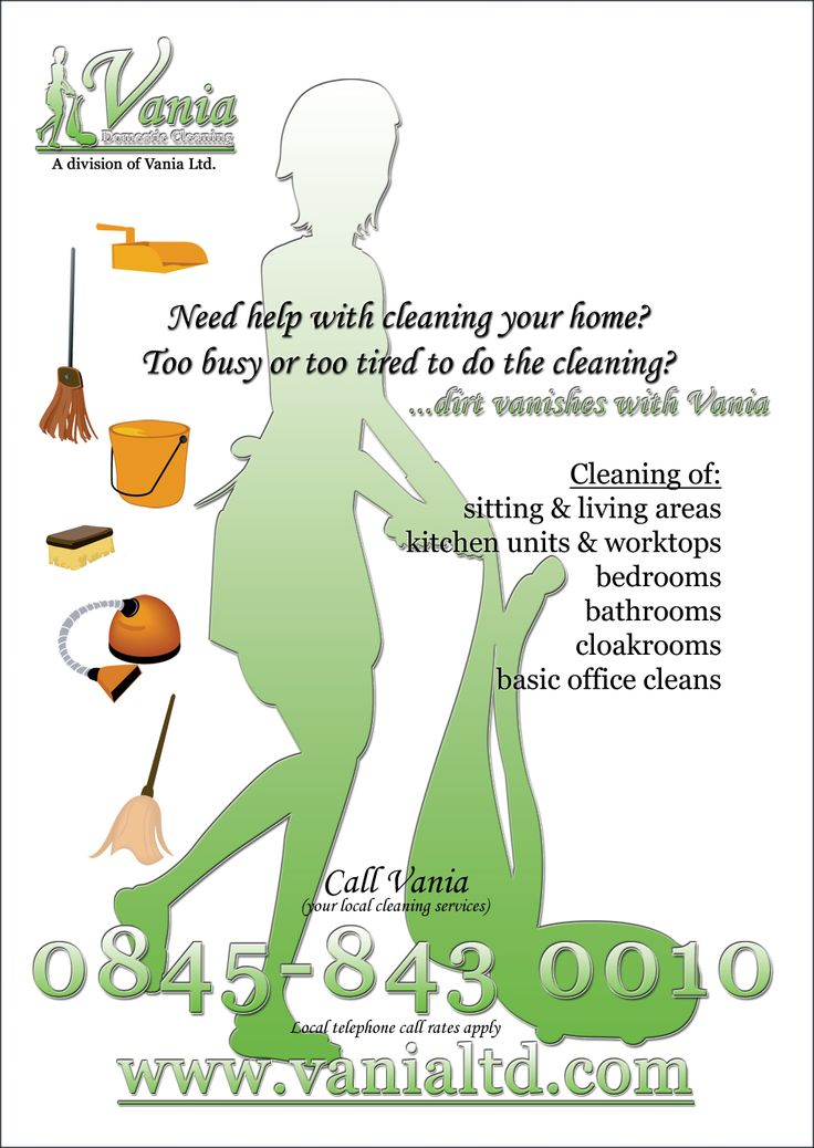 Housekeeping Flyers 4 3 2 1 Stuff to Buy Cleaning