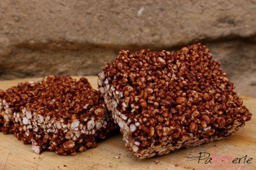 Chocolade Quinoa blokjes met pit - PaTESSerie