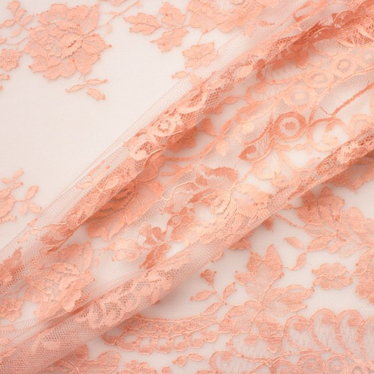 Designer Blush Chantilly Lace  (£169.90/metre)   Joel & Son Fabrics