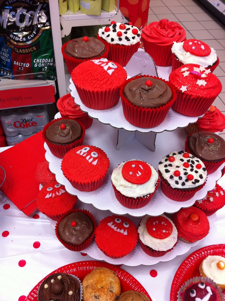 Red Nose Day cup cakes! These look yummy. Use disposable tableware from www.novelties-direct.co.uk to serve these with no mess.