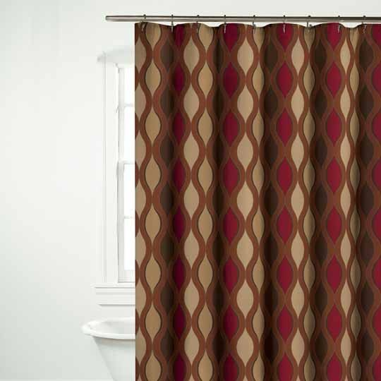 Wave Red Shower Curtain $30.00