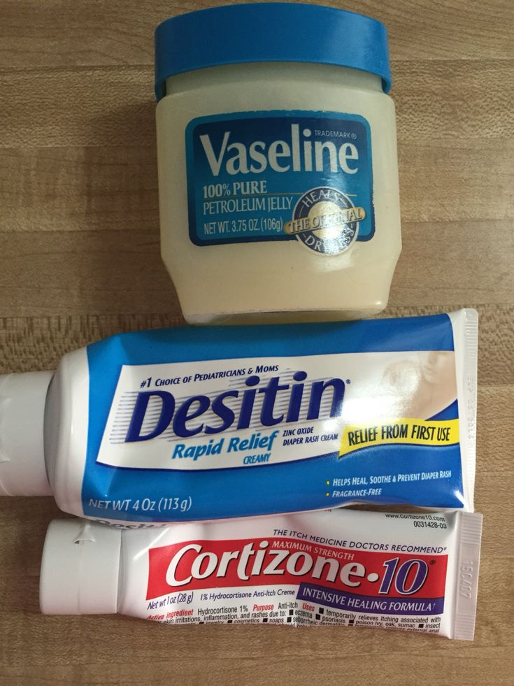 Severe diaper rash! Mix Vaseline, Desitin, and Cortizone cream together and coat to rash thickly! This concoction works wonders!!