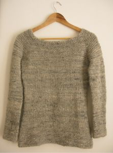 Caora Sweater. Knit top down. Free pattern. Blank canvas for knitter's creativity. Chunky yarn.