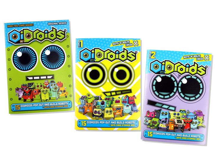 OiDroids 15 Pack Range - our Original Series 1 Pack and our two new Nuts 'n' Bolts Crew packs