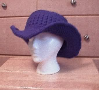 Crochet ladies cowboy hat, free pattern from Crochetville.com!!!