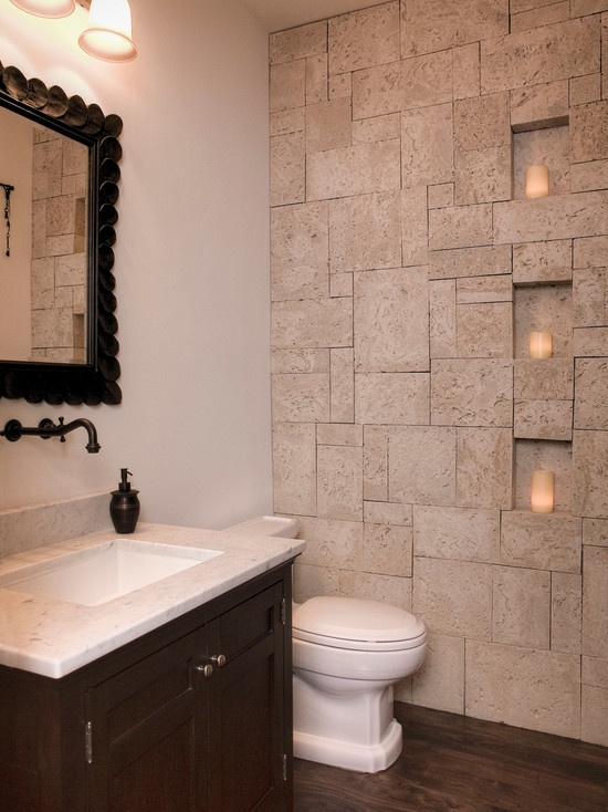 Mediterranean Spaces Powder Room Design, Pictures, Remodel, Decor and Ideas - page 9