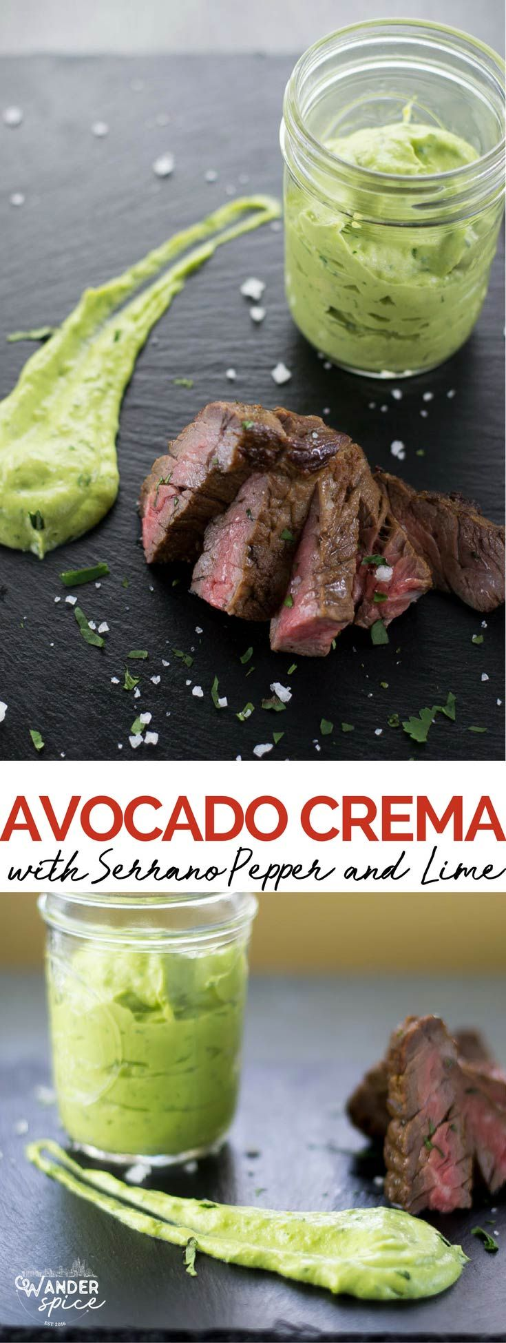 Avocado Cream Recipe. Fish Taco Sauce. Mexican Dipping Sauce that's Healthy