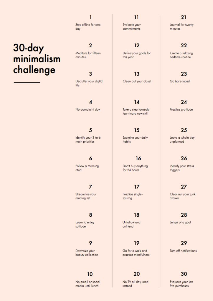 minimalism challenge, are you up for it?come join me!
