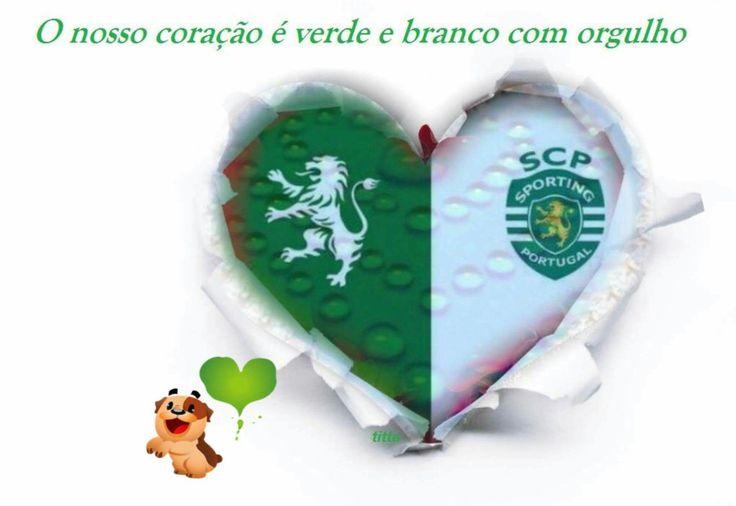 Green & white heart