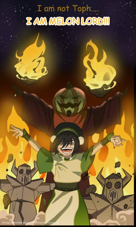 Avatar Flash Back: Toph as the Melon Lord. I hope she's still alive and makes a Legend of Korra cameo.
