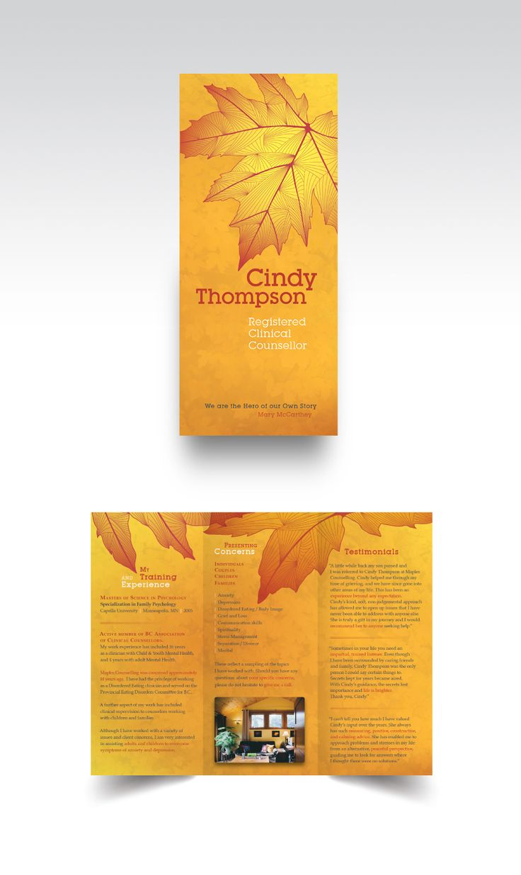 9 best flyer and pamphlet design images on pinterest brochure cindy thompson pamphlet design for a registered cilinical counsellotr on vancouver island bc solutioingenieria Images