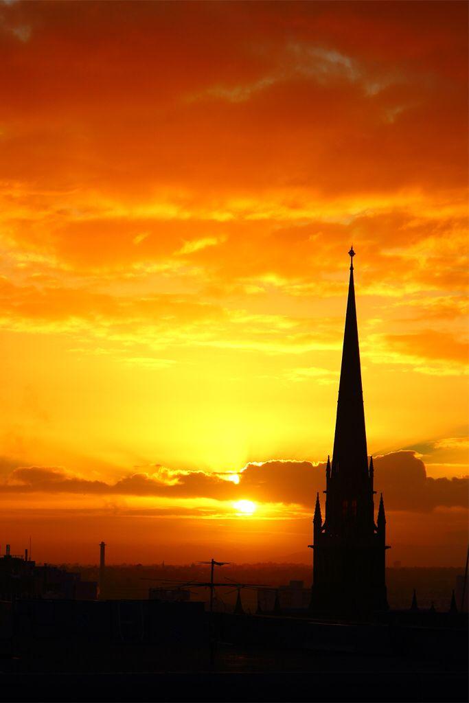 Sunrise over St Patrick's Cathedral... Melbourne, Australia