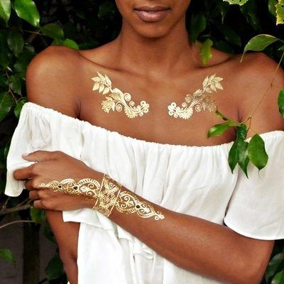 gold tattoo sex products necklace bracelets tattoo metal temporary tattoo women flash metalic fake gold silver  tattoos http://ali.pub/yb1j8