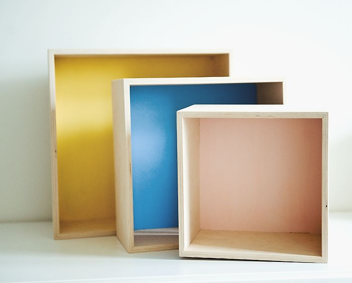 Półka kwadrat komplet 3 Ohmama - inspiracje mamy