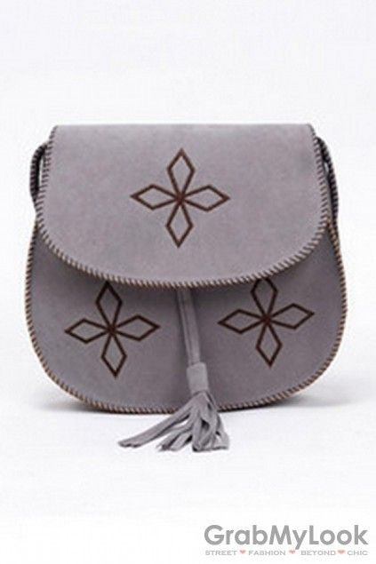 GrabMyLook  Tribal Tassels Vintage Retro Enthic Faux Leather Straps Handbag Bag