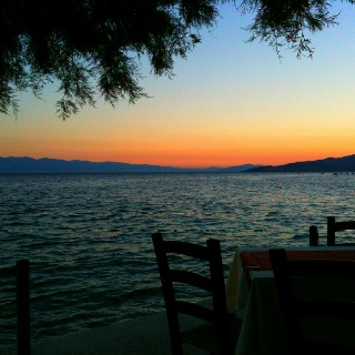 A perfect sunset in Volos