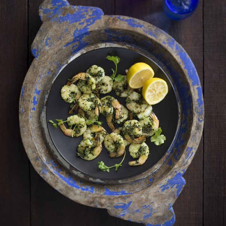 Thermomix | Spiced coriander prawns | Flavours of India Cookbook + Recipe chip |