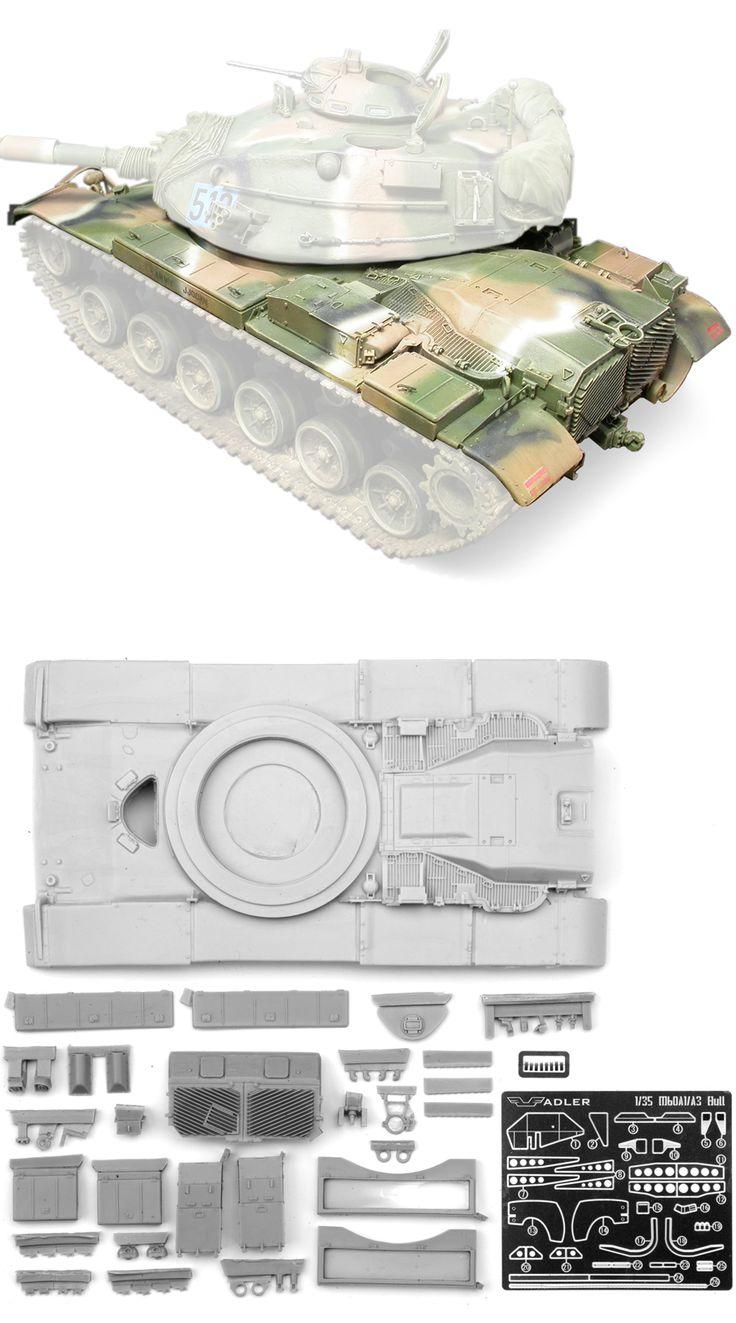 1/35 resincast model U.S. M60A1/M60A3 Upper Hull Conversion (for Academy, Tamiya, ESCI)