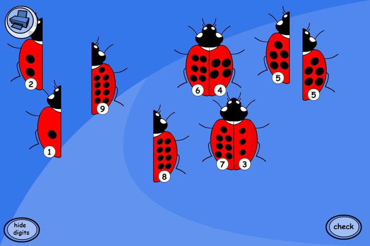 Reinforce number bonds to 10. To reinforce number bonds to 10, ask pupils to find the ladybirds that add together to make 10 spots in total.
