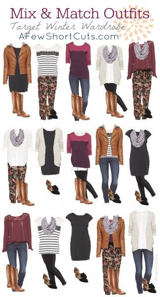 Target Winter Wardrobe Mix & Match Outfits. Great way to show your style!