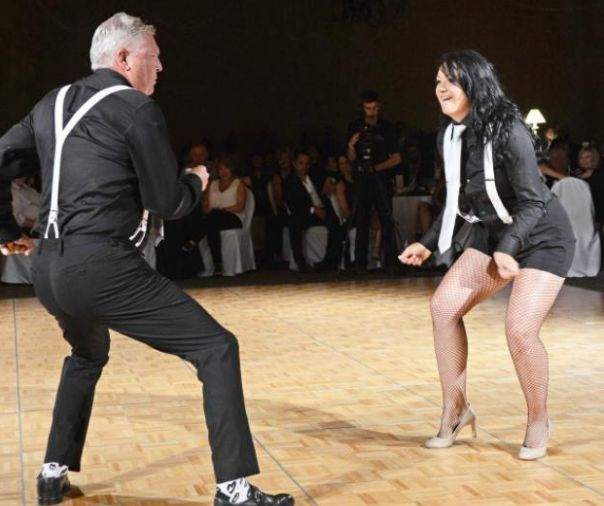 Looking GREAT Norm & Steffie Brenner! Raising $$$ for The North Okanagan Hospice Society! #DancingWithTheVernonStars #VernonBC #Remax