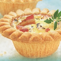 Bacon and Double Cheese Quiche Mini Tarts