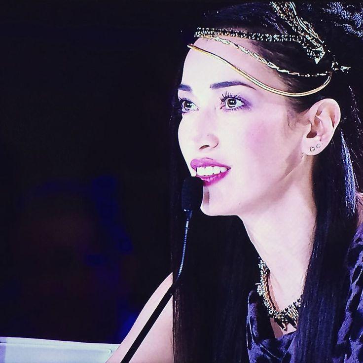 Nina Zilli at Italia's got talent. IOSSELLIANI wore as hair jewelry. Good Idea ;) Like it very much