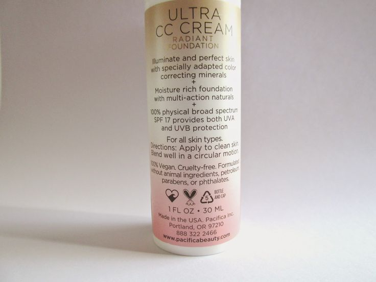 Reseña/Review: Ultra CC Cream Radiant Foundation de Pacifica Natural Minerals
