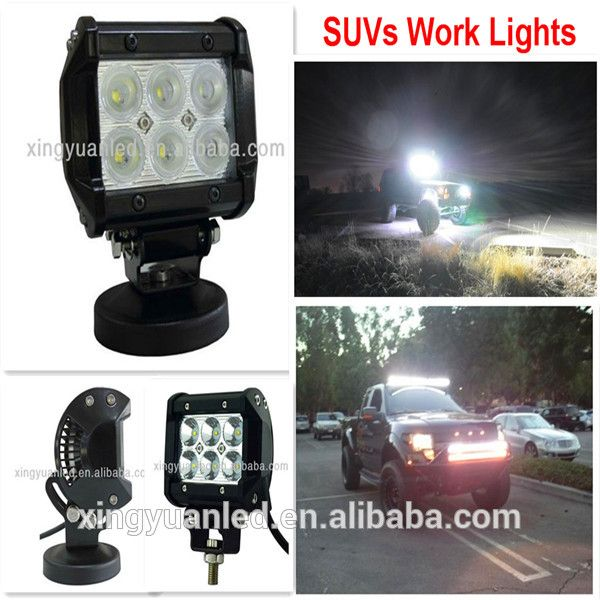 4x4 rc trucks for sale 18W Led Work Light Bar Flood Off-road light SUV work light
