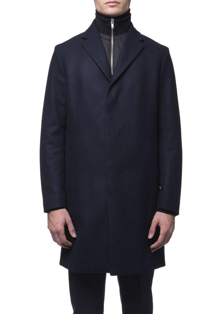 Theory - Menswear - FW16 // Navy Delancey overcoat in wool