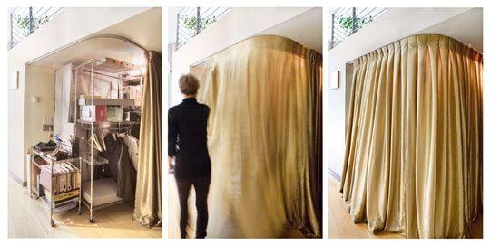 Look! Elegant Makeshift Closet Solution