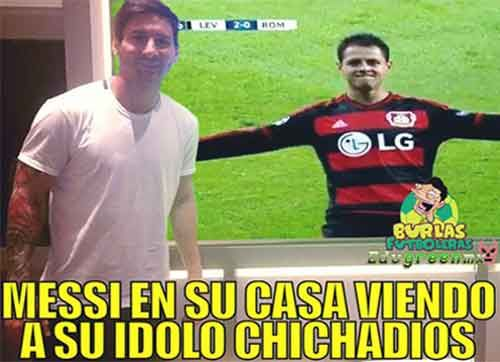 chicharito hat trick memes messi - Google Search