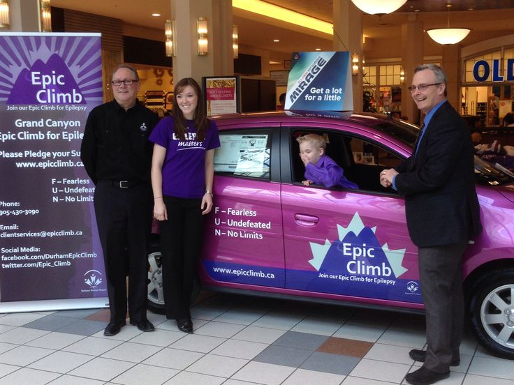 Epic Climb Launch - @oshawacity Mayor Henry,  Cameron, Jessica, and Gino today at the @Katie Kader Centre @Epic_Climb  www.epicclimb.ca