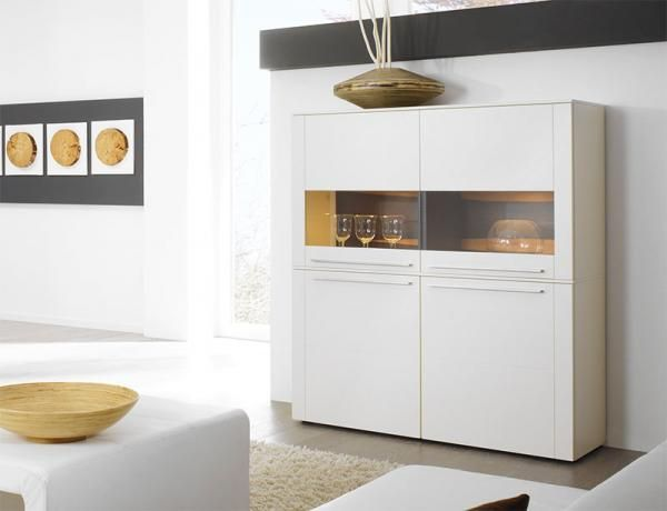 Gwinner Bellano 4 door cabinet in white matt silk lacquer #modernfurniture #interiordesign #home #modernhome #furniture #interiors