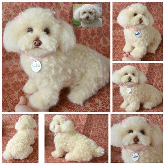 Custom Toy Poodle Artist Needle Felted Dog Sculpture Memory