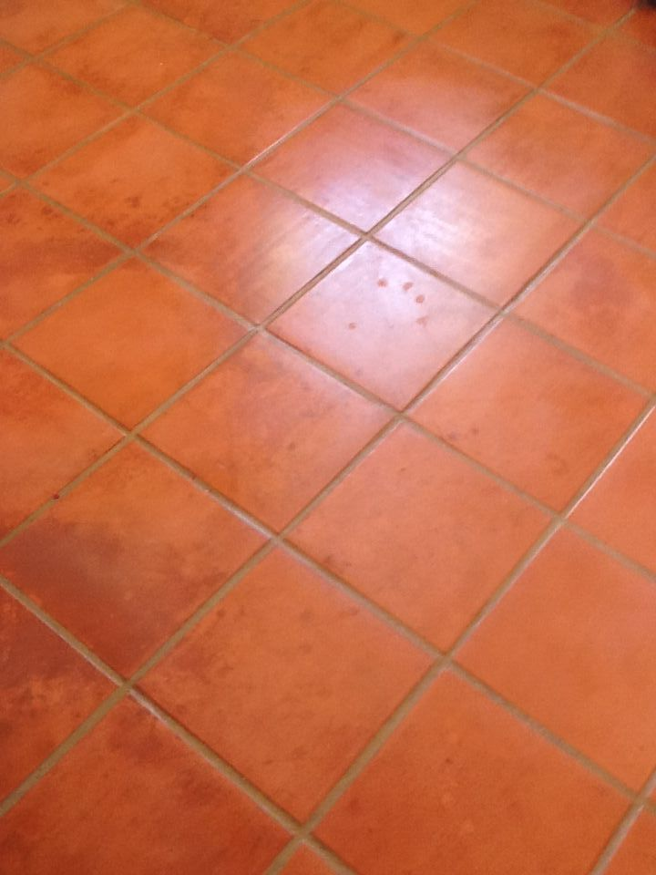 This Is Our Sunroom Floor Terracotta Tiled Floor Cleaned And