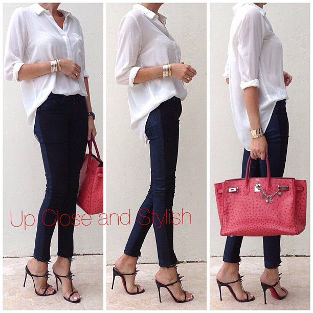 .@upcloseandstylish | Today -  #Forever21 shirt, #Rag_Bone suede and denim pants, #Louboutin's Lady...