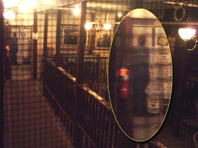 A Shadow Person is Photographed at the Bird Cage Theater
