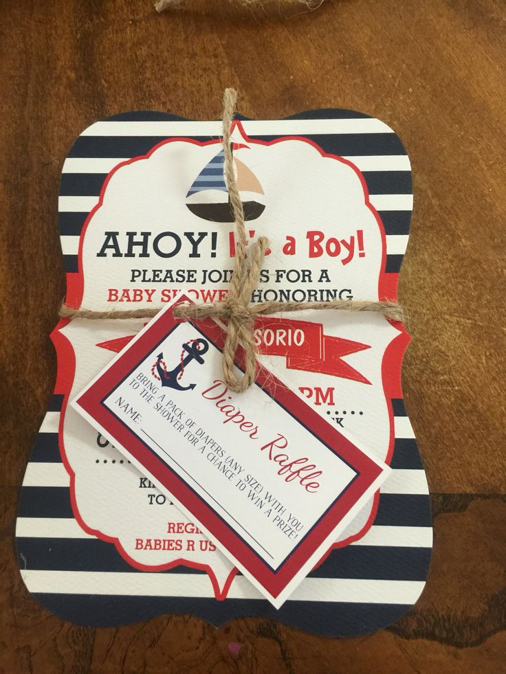 86 best images about nathan rey's nautical baby shower on, Baby shower invitations