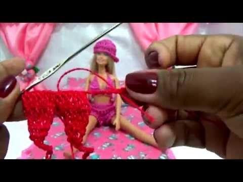 Como fazer top para Barbie em crochê - YouTube