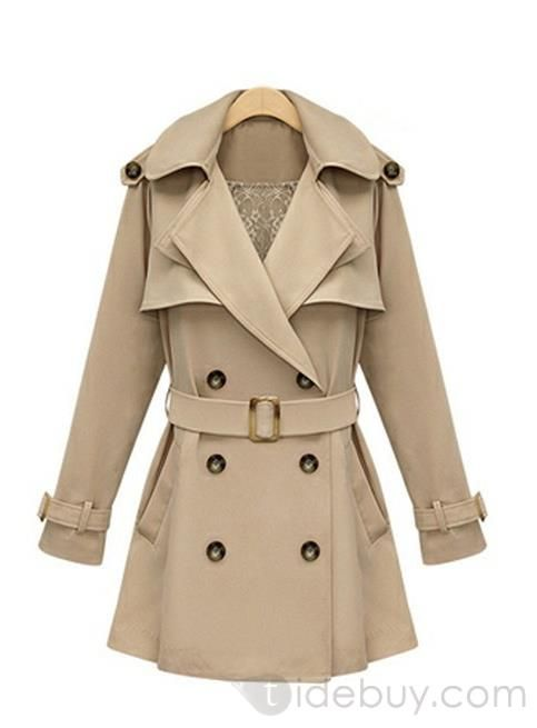 Fabulous Euramerican New Arrival Slim Long Double Breasted Woolen Trench Coat : Tidebuy.com
