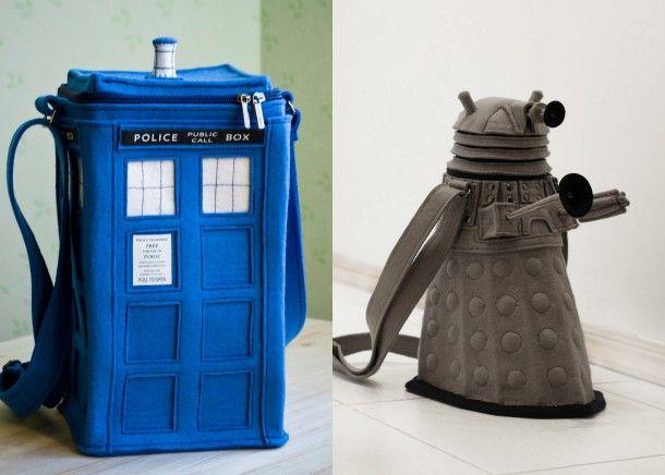 Dalek and Tardis felt purses won't exterminate each other. http://cnet.co/LQ5hW1