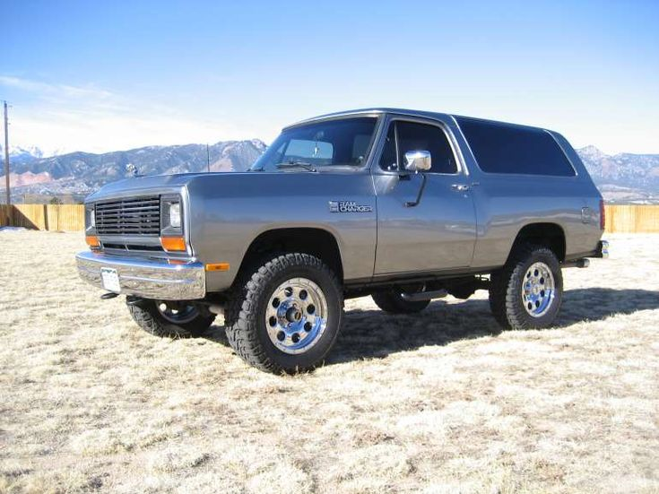 """Dodge Ram Charger, one of my first vehicles, affectionately named """"The Buck Wagon"""" by a dear friend, this thing was the best!  I would love to buy another some day"""
