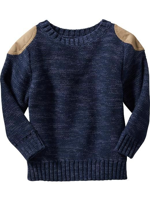 Titus:: Shoulder-Patch Sweater for Baby In Goodnight Nora color, size 18-24mo